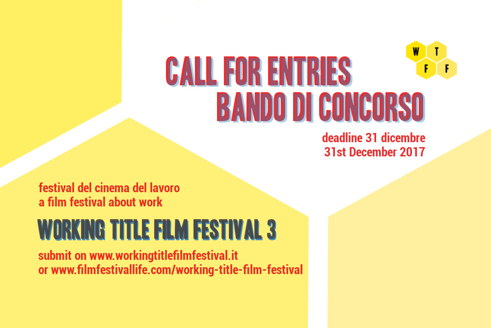 Call for entries Working Title Film Festival 3